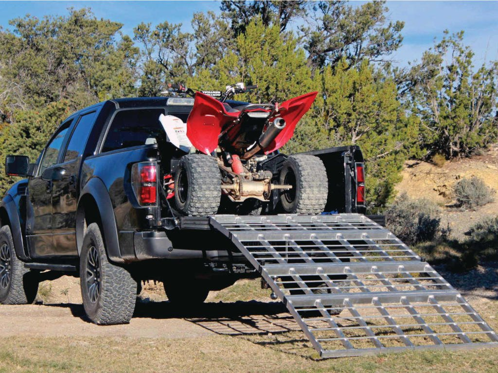 Goplus 7.5 Loading Ramp 1760 lb Heavy Duty Aluminum ATV UTV Arched Folding Ramps Pair