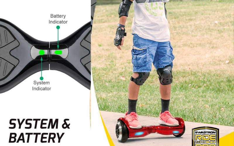 Swagboard T1 Pro Hoverboard Review Battery