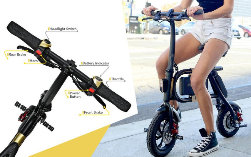 Swagcycle Classic Pedal-Less Electric Bike Review Handle