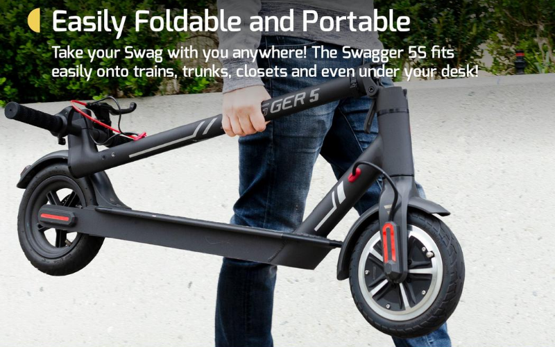 Swagger 5 Elite Electric Smart Scooter Review Portability