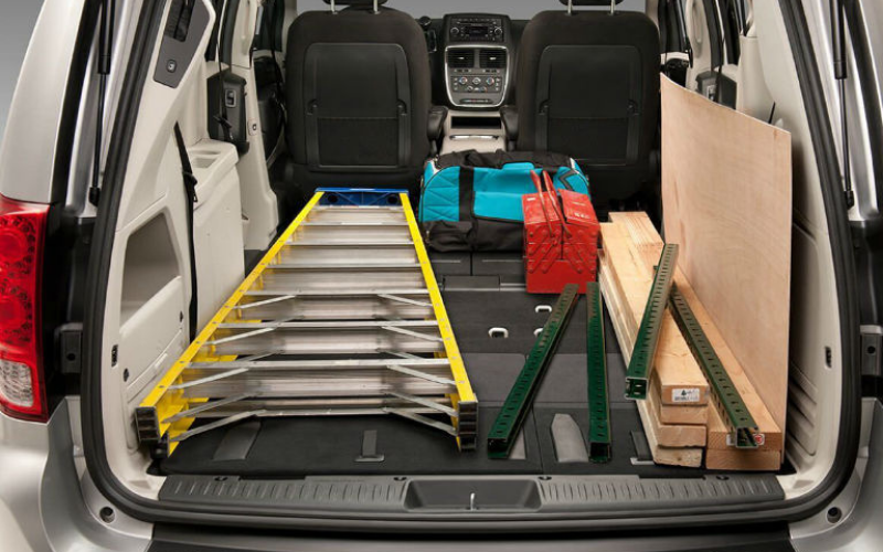 whats dodge grand caravans cargo space like
